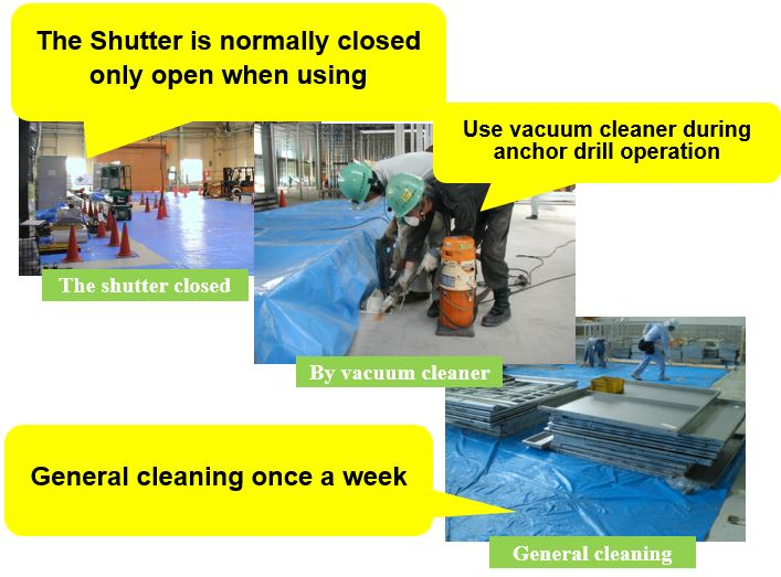 shut out the dust from outside to site
